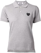 Comme des Garcons embroidered heart polo shirt - women - Cotton - XS