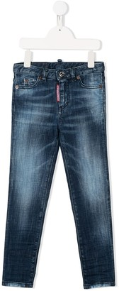 DSQUARED2 Logo Tag Stonewashed Jeans