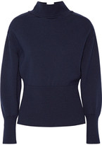 Jacquemus Tie-back Wool Turtleneck Sweater - Midnight blue
