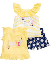 Nannette 3-Pc. Tank Tops and Shorts Set, Little Girls (4-6X)