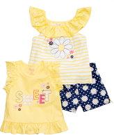 Nannette 3-Pc. Tank Tops & Shorts Set, Toddler & Little Girls (2T-6X)