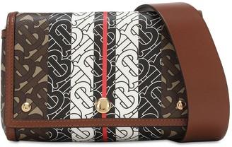 Burberry Small Monogram E-canvas Crossbody Bag