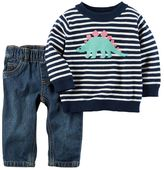 Carter's Baby Boy 2-pc. Dinosaur Sweater & Pants Set