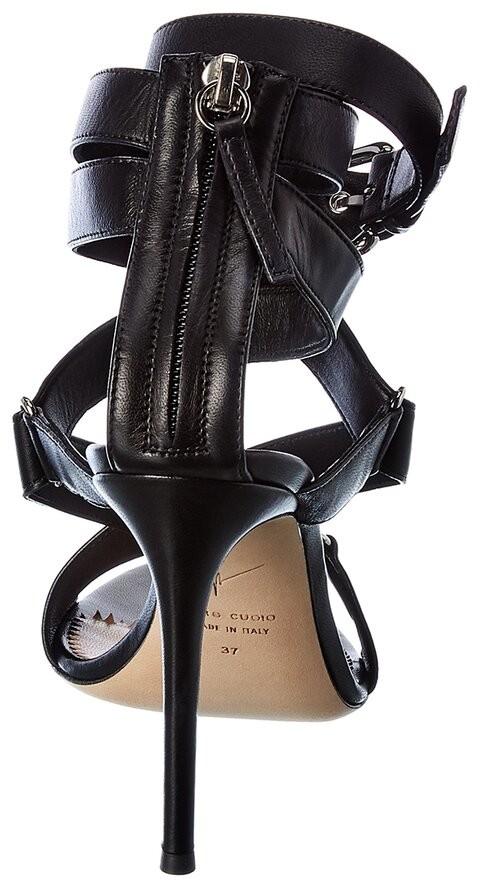Thumbnail for your product : Giuseppe Zanotti Larissa Ankle Wrap Leather Sandal