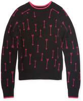 Autumn Cashmere Wool-Cashmere Arrow Sweater