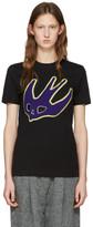 McQ by Alexander McQueen Black Varsity Swallow T-Shirt