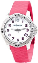 Wenger Squadron Mother-of-Pearl Watch - Silicone Strap (For Women)