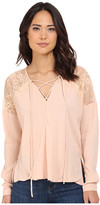 Brigitte Bailey Adley Front Tie Top with Lace Detail