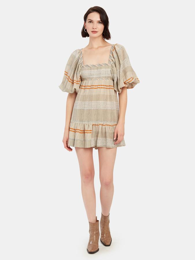 Free People Cozy Stripe Mini Dress
