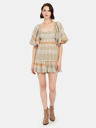 Free People Cozy Stripe Mini Dress