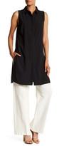 Adrienne Vittadini Sleeveless Button-Up Blouse