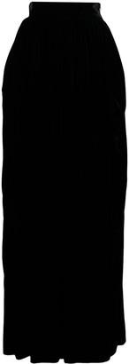 Alberta Ferretti Velvet-Effect Maxi Skirt