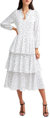 Belle & Bloom Piece Of Your Heart Tiered Midi Dress
