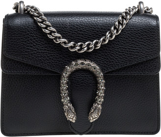 Gucci Black Leather Mini Dionysus Shoulder Bag