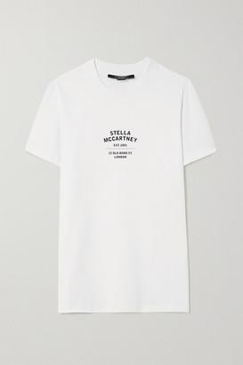 Stella McCartney Net Sustain Printed Organic Cotton-jersey T-shirt - White