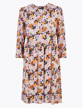 Marks and Spencer Floral V-Neck Mini Relaxed Dress