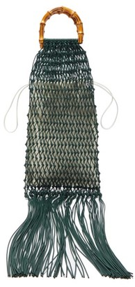 Jil Sander Bamboo-handle Macrame String Bag - Womens - Green Multi