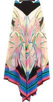 Roberto Cavalli Printed Silk Crepe De Chine And Silk-Georgette Maxi Skirt