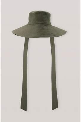 Ganni Ripstop Cotton Chino Hat