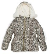 Pink Platinum Girls 7-16 Cheetah Print Heavyweight Puffer Jacket