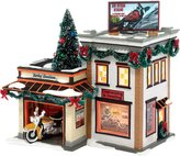 Harley-Davidson D56 Department 56 Original Snow Village Detail Ornament Lit House, 8.1-Inch