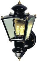 Heath Zenith 150 Degree Black Charleston Coach Lantern with Clear Glass