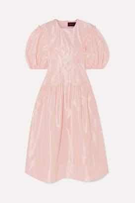 Simone Rocha Pintucked Taffeta Midi Dress - Pink