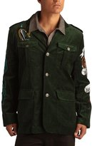 Ed Hardy Mens Born Free Eagle Velvet Blazer Jacket