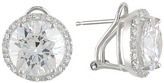 Sterling Silver 24 1/2 CT TGW Cubic Zirconia Earrings