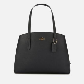 Coach Women's Polished Pebble Leather Charlie 40 Bag - Black