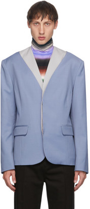 Keenkee Purple Open Chest Blazer