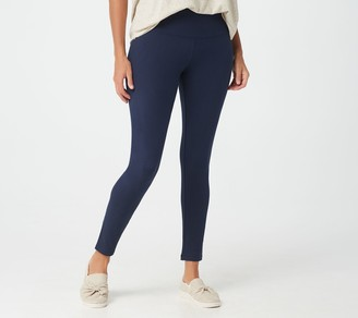 Women With Control Petite Tummy Control Leggings w/ No Side Seam