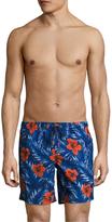 "Sundek Hibiscus 16"" Elastic Waist Swim Shorts"