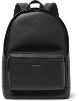 Michael Kors Full-grain Leather Backpack - Black