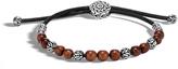 John Hardy Men's Classic Chain Bead Bracelet in Sterling Silver with Wood