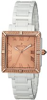 Invicta Women's 14901 Ceramics Rose Gold Dial White Ceramic Watch