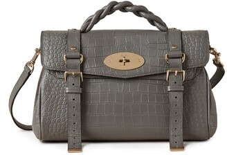 Mulberry Alexa Charcoal Soft Printed Croc