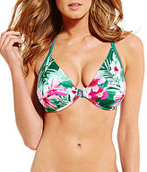 GB Tropical Bra Sized Underwire Halter Top