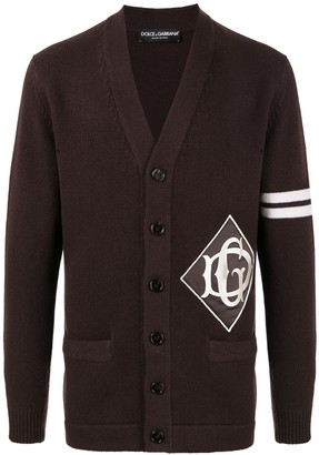 Dolce & Gabbana logo patch cardigan