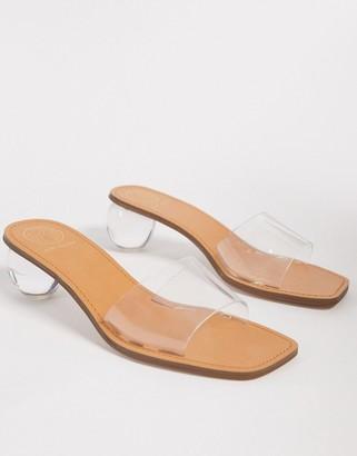 KG by Kurt Geiger London Plastique clear heeled sandals