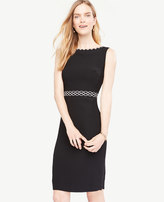 Ann Taylor Petite Scallop Trim Sheath Dress