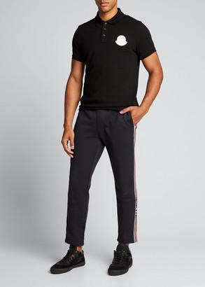 Moncler Men's Logo-Patch Polo Shirt