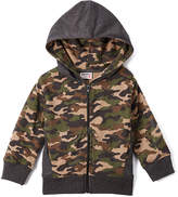 Mish Mish Brown & Green Camo Zip-Up Hoodie - Infant, Toddler & Boys