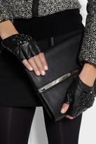 Karl Lagerfeld Attens crystal-embellished leather fingerless gloves