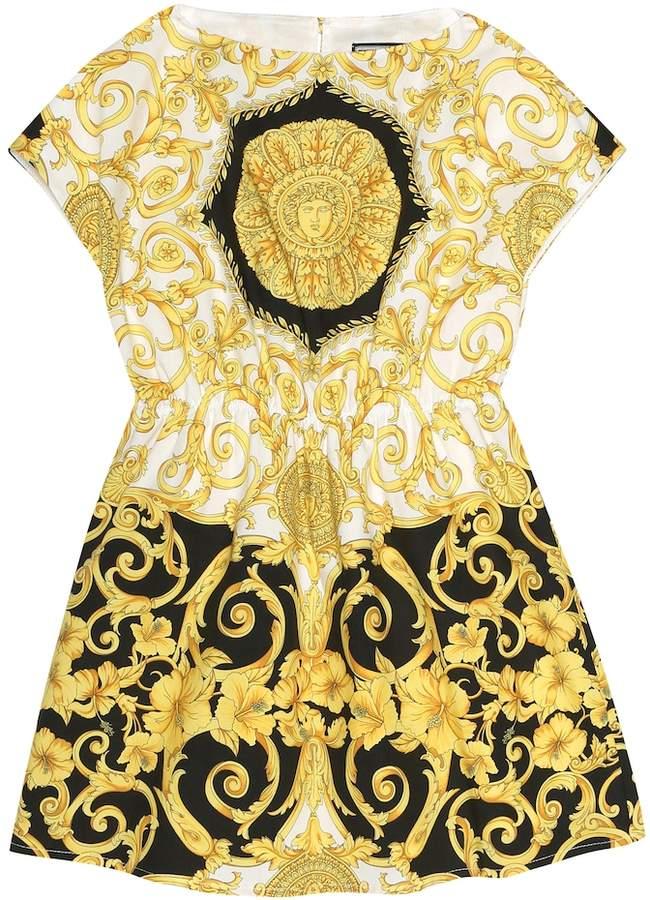 Versace Kids Printed cotton dress