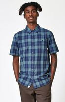 Vans Chatwin Blue Plaid Short Sleeve Button Up Shirt