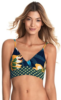 Maaji Amaluna Daydream Longline Bralette Top (Blue) Women's Swimwear