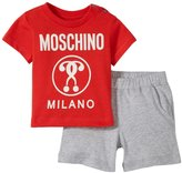 Moschino T-shirt and Bermuda Shorts (Baby) - Red - 12/18 Months