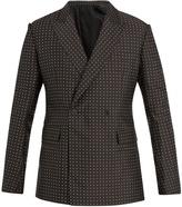 Haider Ackermann Polka-dot double-breasted silk-blend blazer
