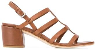 Del Carlo Block Heel Cage Sandals